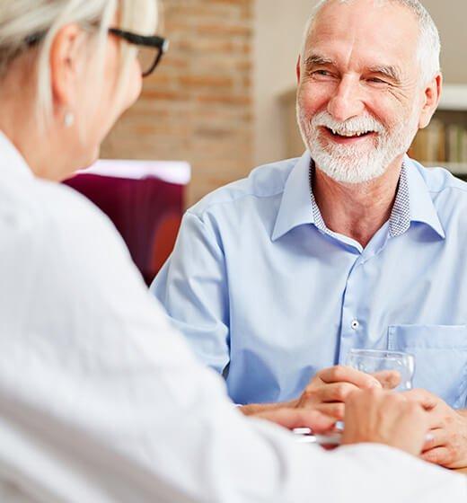 older man seeking help for erectile dysfunction