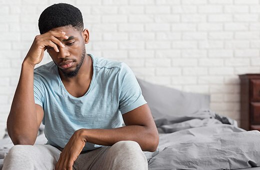 man stressed with erectile dysfunction