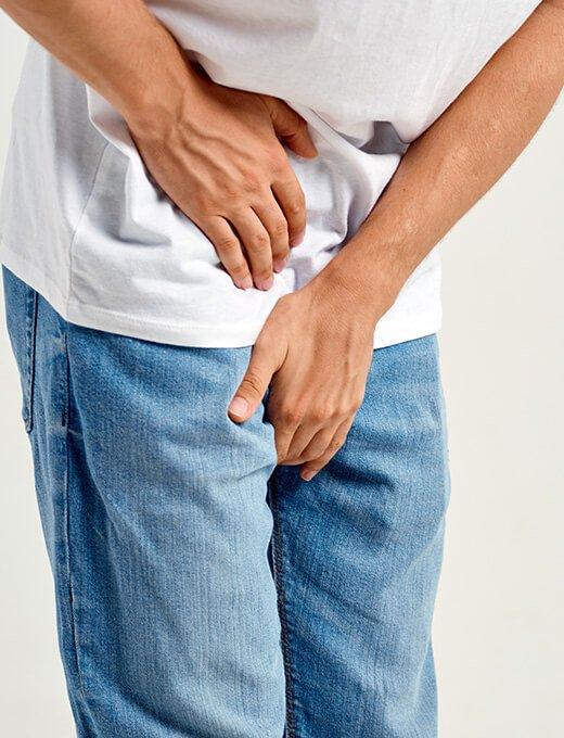man with prostatitis